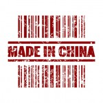 Vector illustration of single  made in China icon