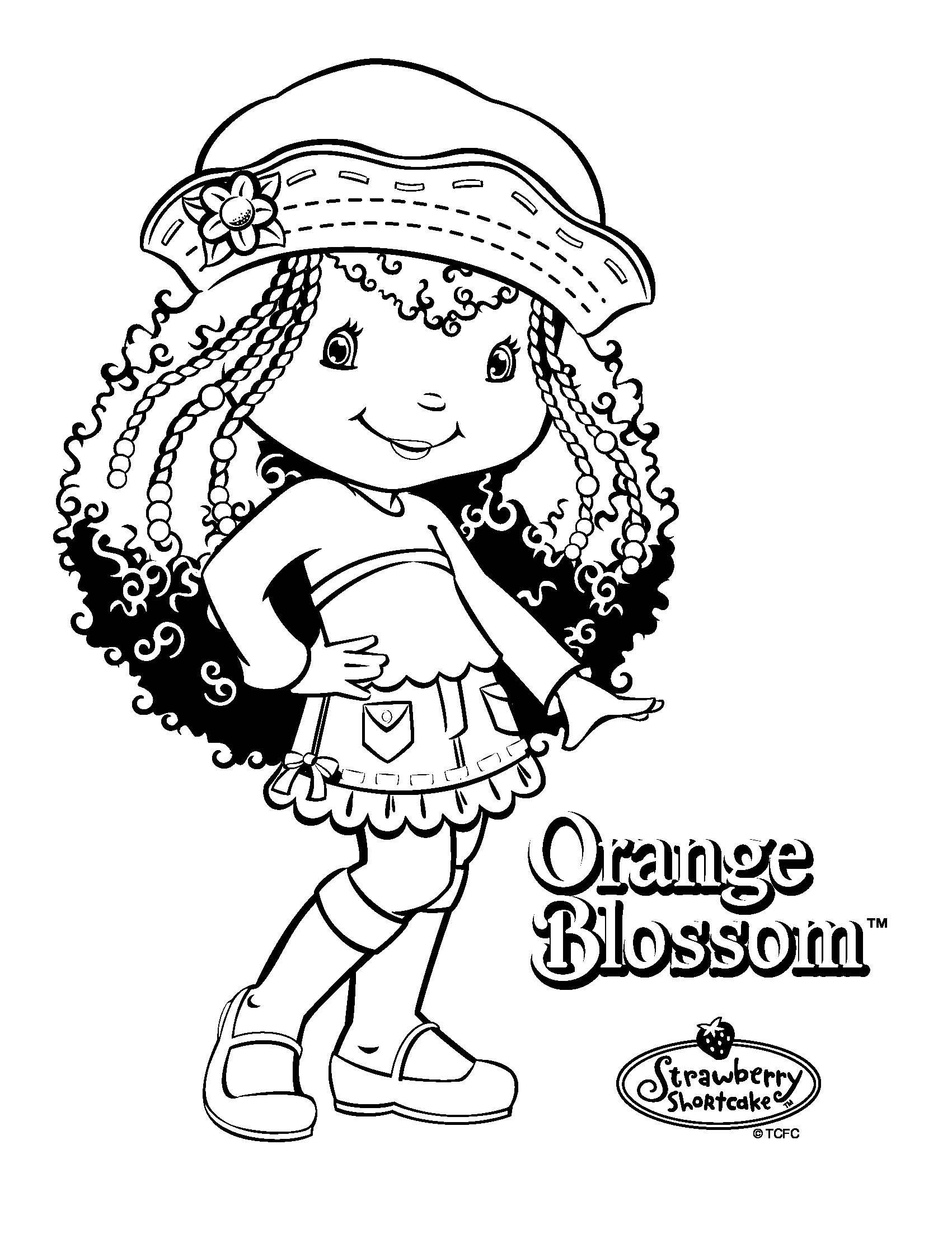 pobarvanke - orange blossom