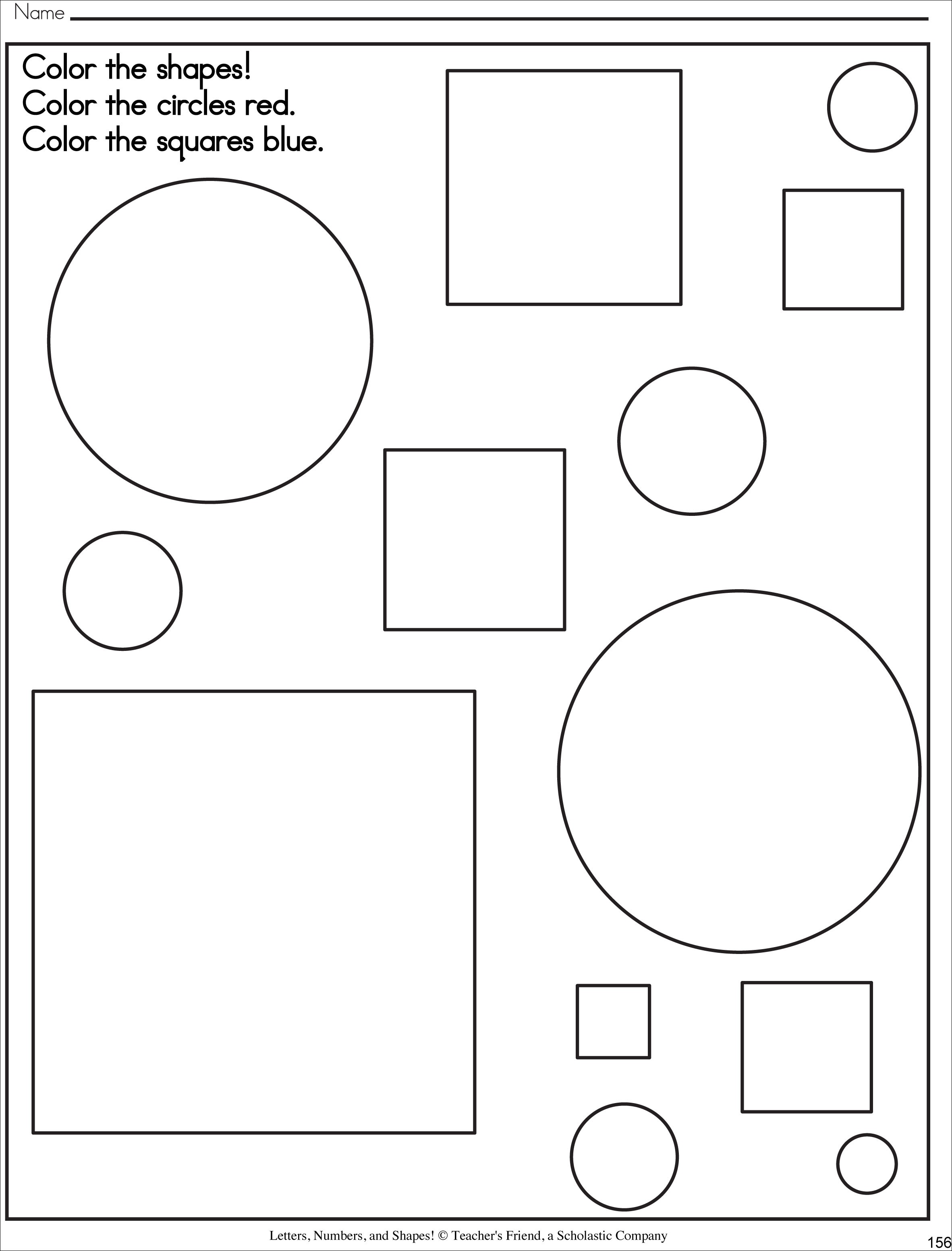 all shapes coloring pages - photo#26