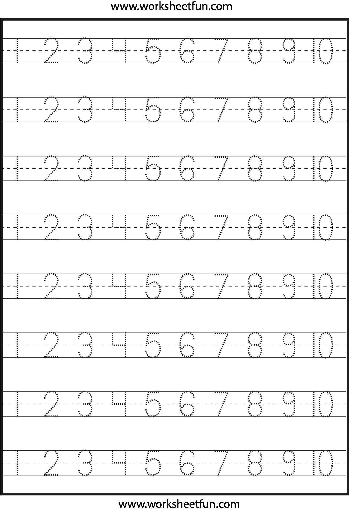 numbertracingWORKSHEETFUN1
