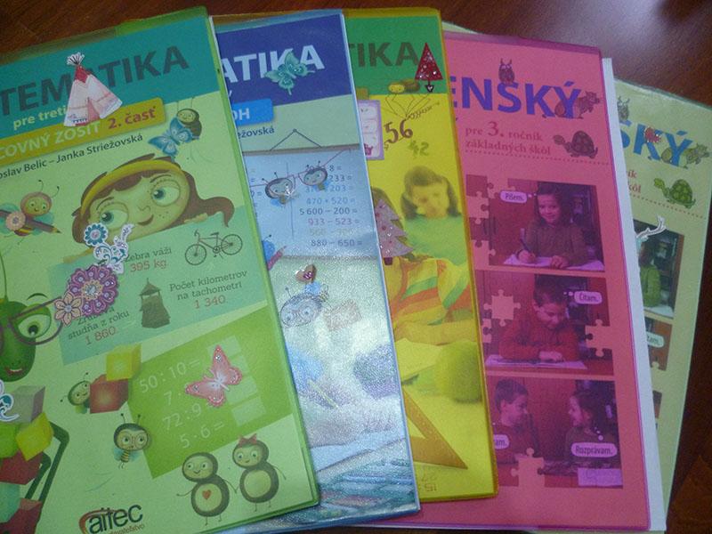 Učebnice 3 ročník A4 matematika + slovenský jazyk