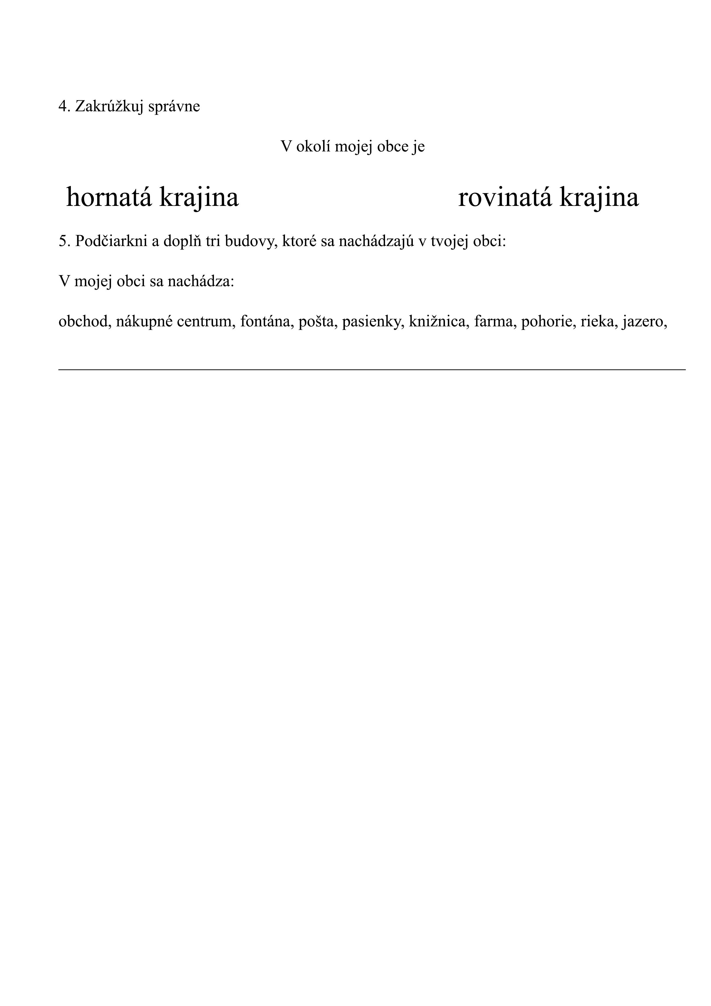 Test 3 ročník ZŠ Vlastiveda MIESTNA KRAJINA-2