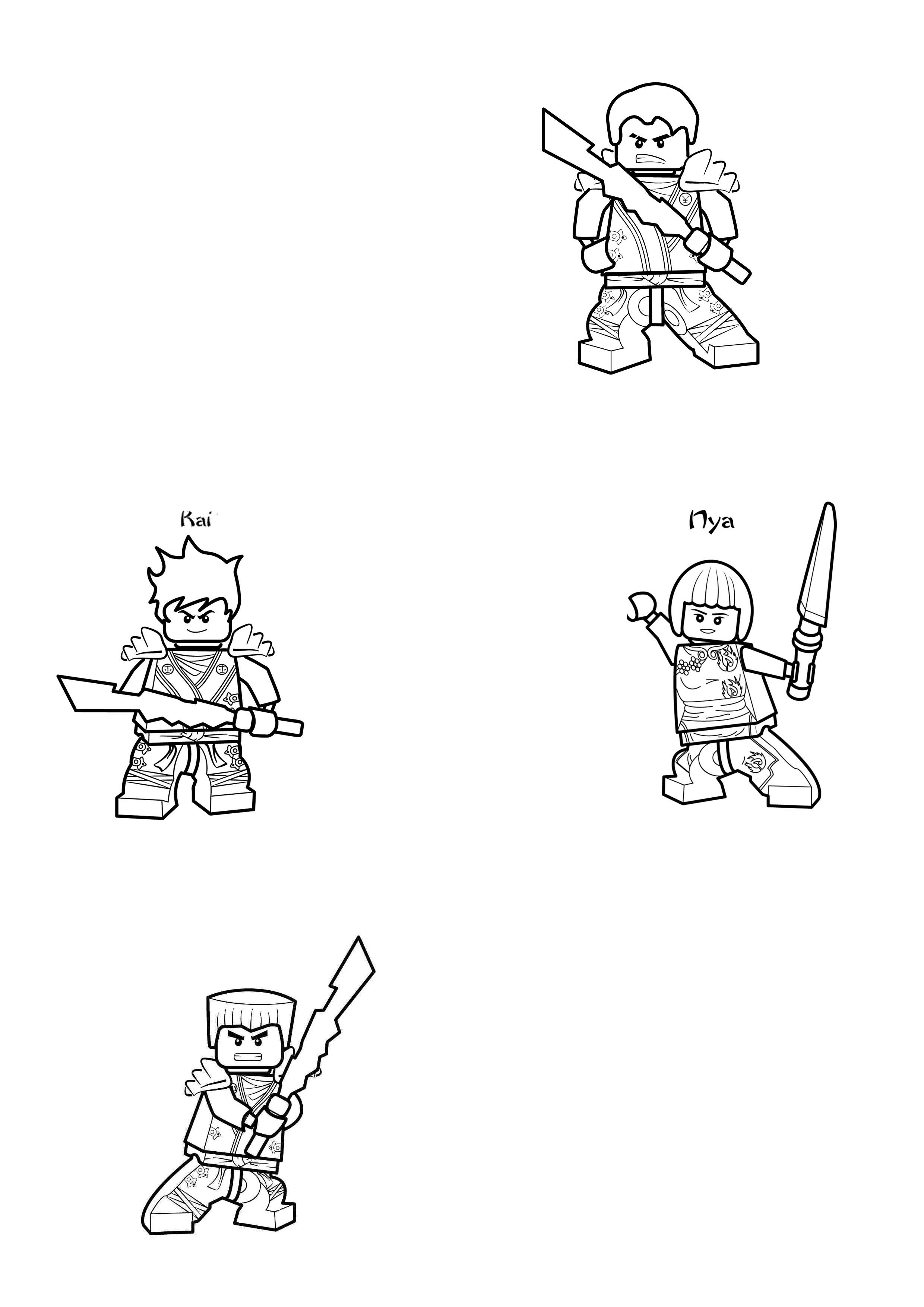 Vizitky Ninjago