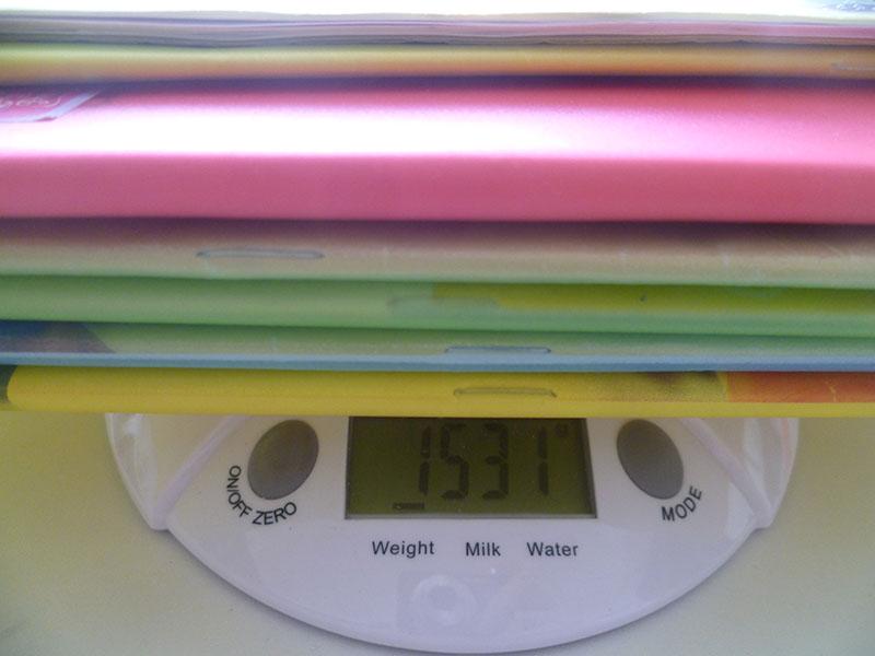 3 ročník váha učebníc pondelok učebnice
