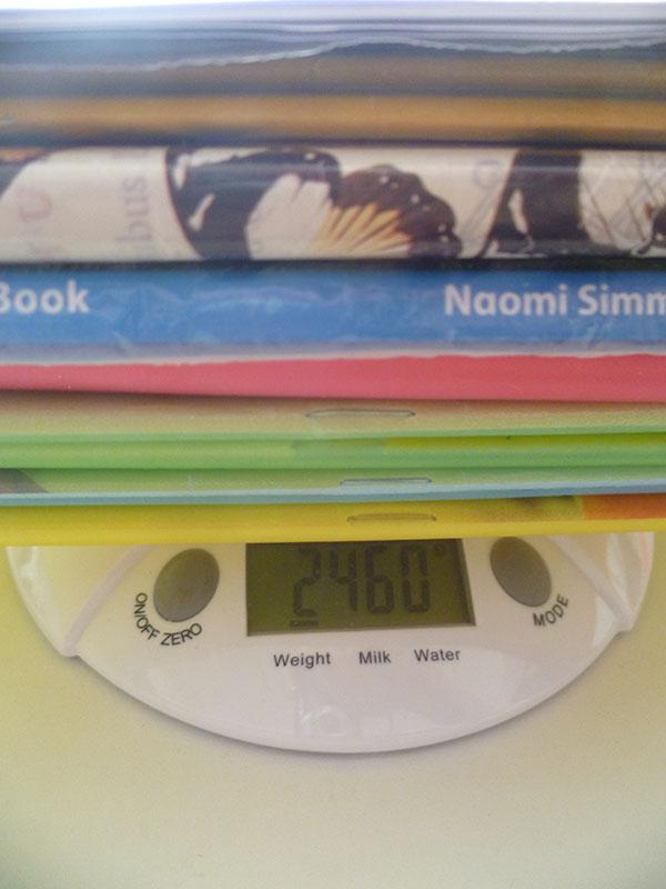 3 ročník váha učebníc streda