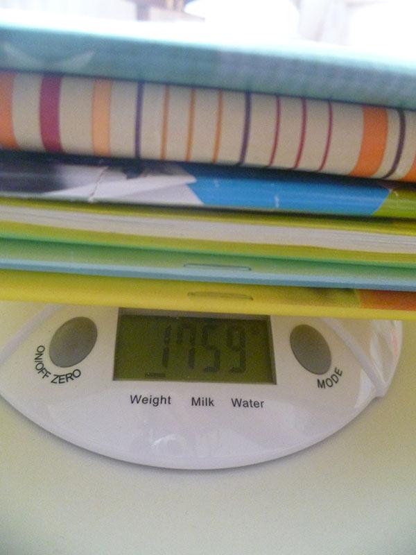 3 ročník váha učebníc utorok