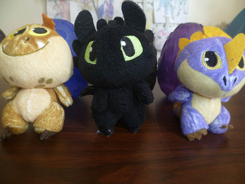 How to train your dragon plush in egg