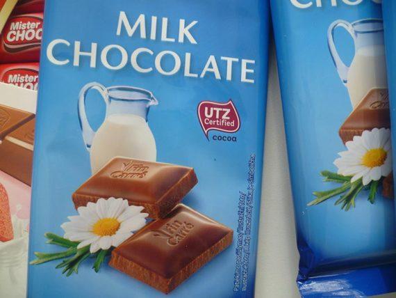 Lidl čokoláda. UTZ certifikát.