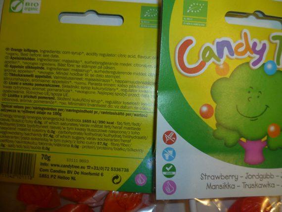 Candy Tree. Kukuričný sirup, kyselina citrónová a ovocie. Bio obchody