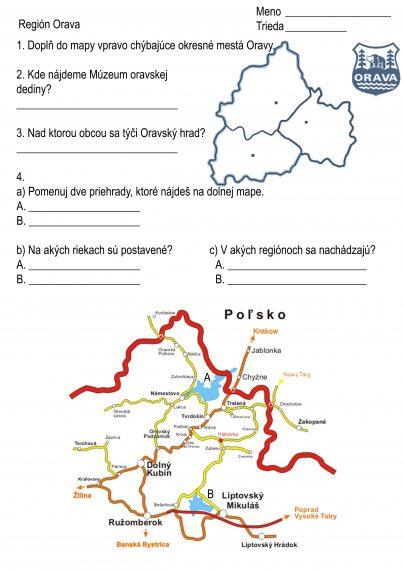 Región Orava. 4.ročník Vlastiveda