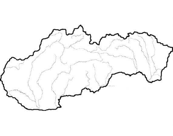 Rieky Slovenska prazdna mapa