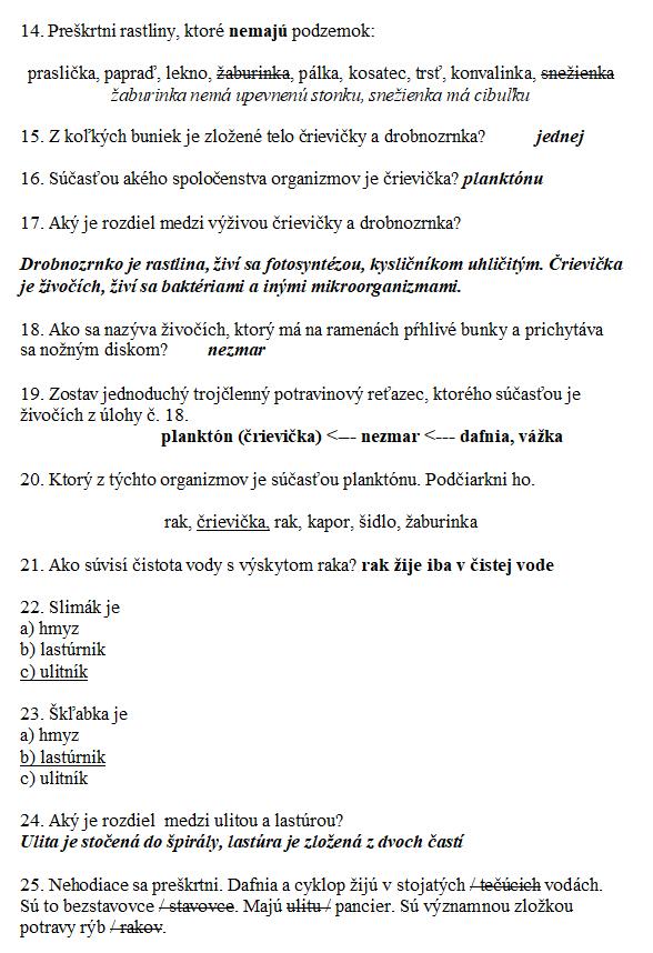 Biologia pre 5. ročník ZŠ Voda 2