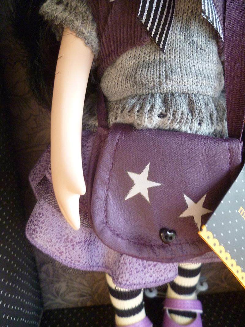 Santoro London Gorjuss 06 Little Violet fialový motív, hviezdička
