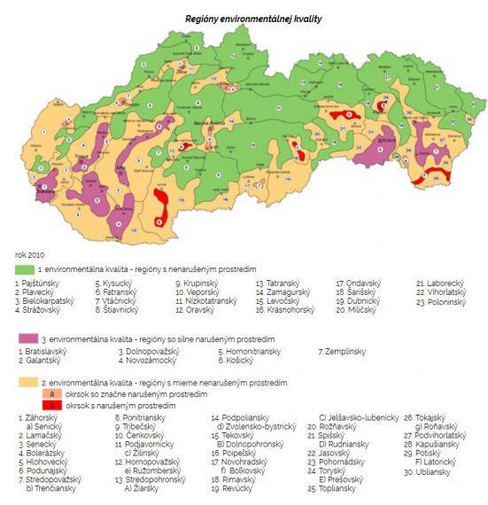 Hodnotenie kvality životného prostredia z roku 2010