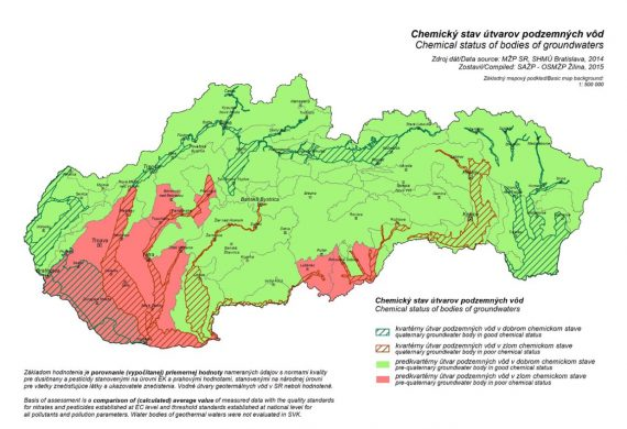 Znečistená podzemná voda 2014