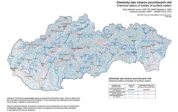 Znečistená povrchová voda 2009